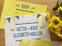 Pretty christening invite